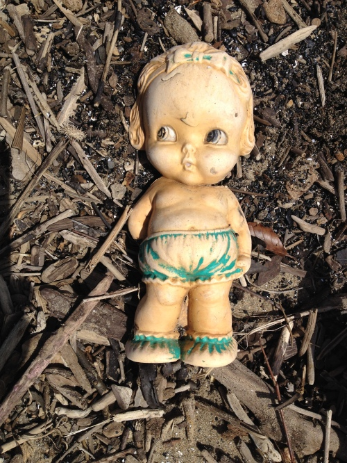 old plastic toy, Falls of the Ohio, March 2015