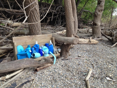 Arrangement in Blue Plastic at the Falls of the Ohio, May 2015