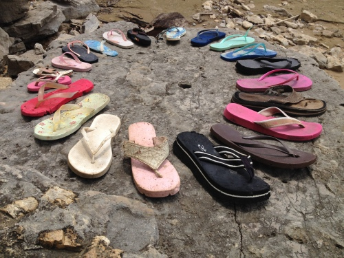 Flip Flops and fossils, Falls of the Ohio, May 2015