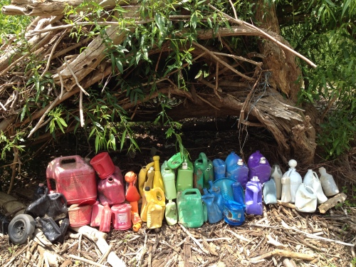"""Big Jug Rainbow"", detail, Falls of the Ohio, June 2015"