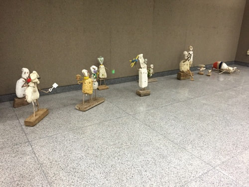 Delivered sculptures at E.K.U., Sept. 2015