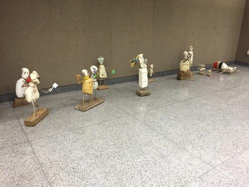 Delivered sculptures at E.K.U., Sept. 2015