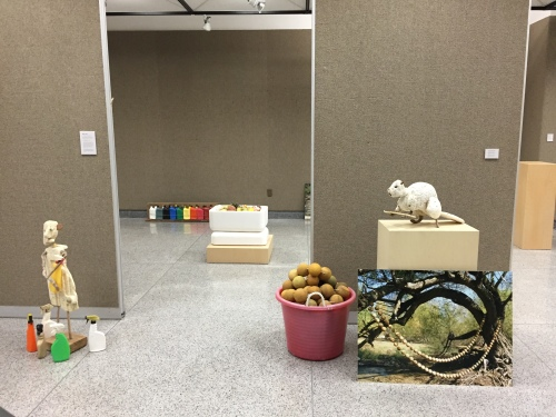 Unloaded art work at the Giles Gallery, Sept. 2015