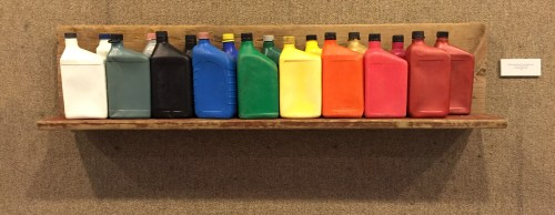 """Petrochemical Color Spectrum"", found materials from the Falls of the Ohio, Sept. 2015"