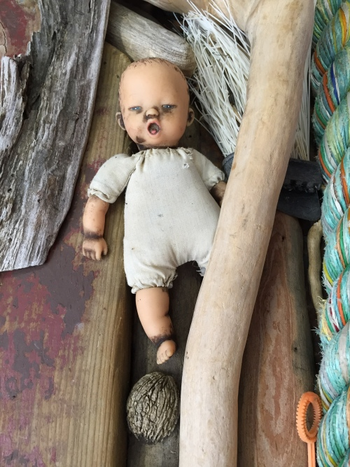 Small doll on Falls Panel, Oct. 2015