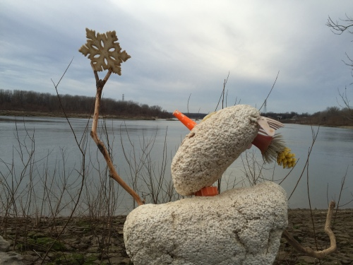 Returning the star to its rightful place, Falls of the Ohio, Dec. 2015