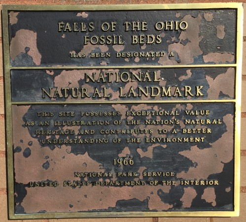Plaque at the Falls of the Ohio Interpretive Center, Jan. 1, 2016
