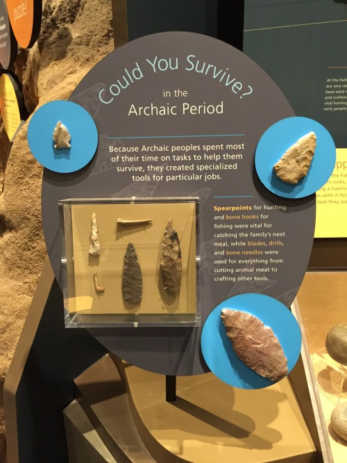 Archaic tool display, Falls of the Ohio Interpretive Center, Jan. 8, 2016