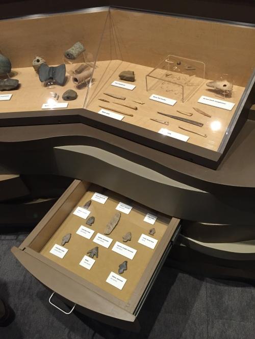 Prehistoric tools on display, Falls of the Ohio Interpretive Center, Jan 8, 2016