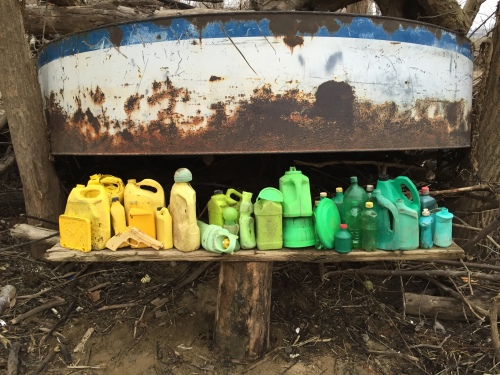 """Arrangement in Yellow and Green Plastic"", Falls of the Ohio, Jan. 2016"
