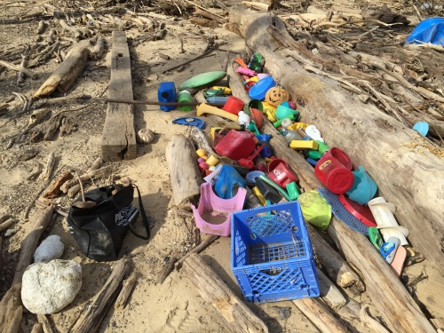 Found plastic, Falls of the Ohio, Jan 30, 2016