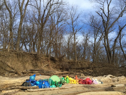 Western Park Plastic Rainbow, Falls of the Ohio, Jan. 30, 2016