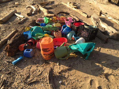 Found plastic, Falls of the Ohio, Feb. 20, 2016