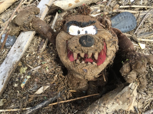Tasmanian Devil character plush toy, Falls of the Ohio, March 26, 2016