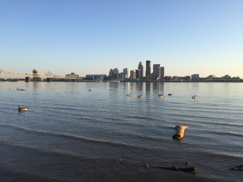 Louisville as seen for the Indiana shoreline. March 26, 2016