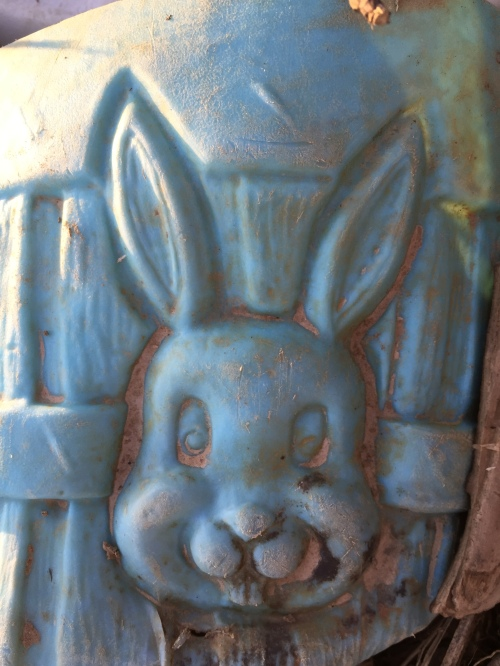 Plastic rabbit image, Falls of the Ohio, March 26, 2016