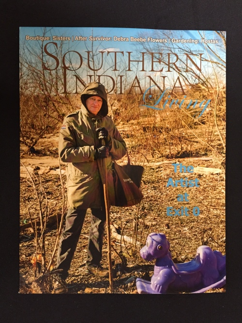 """Artist at Exit 0"" issue of Southern Indiana LIving, March-April 2016 issue"