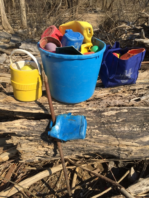 Found plastic at the Falls of the Ohio, late March 2016