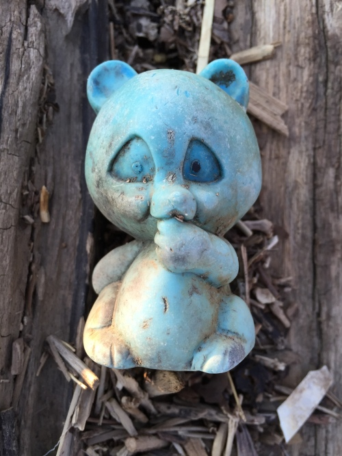 Found plastic panda or other bear, late March 2016