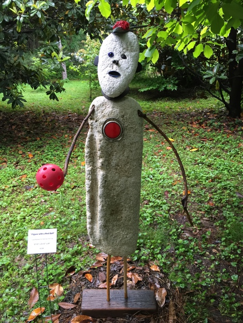 """Figure Holding a Red Ball"", Hidden Hill, May 2016"