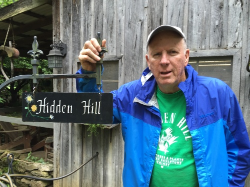 Bob Hill at Hidden Hill Nursery and Sculpture Garden, May 2016